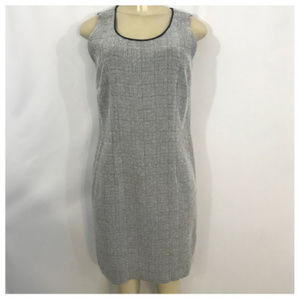 Black and White Plaid Midi Dress 8p